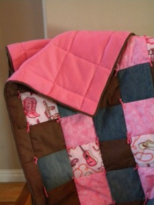 Western Girl Baby Quilt