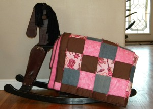 Guitars and Boots on a Western Baby Girl Quilt