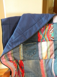 Fleece Inside Southwestern Rodeo Quilt
