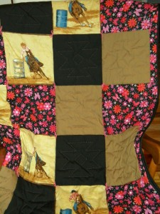 Barrel Racer Rodeo Quilt With Bright Floral