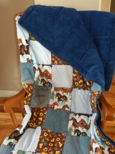 Running Horses Fleece Back